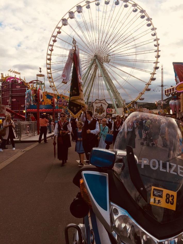 Der Bad Dürkheimer Wurstmarkt 2108 aus polizeilicher Sicht