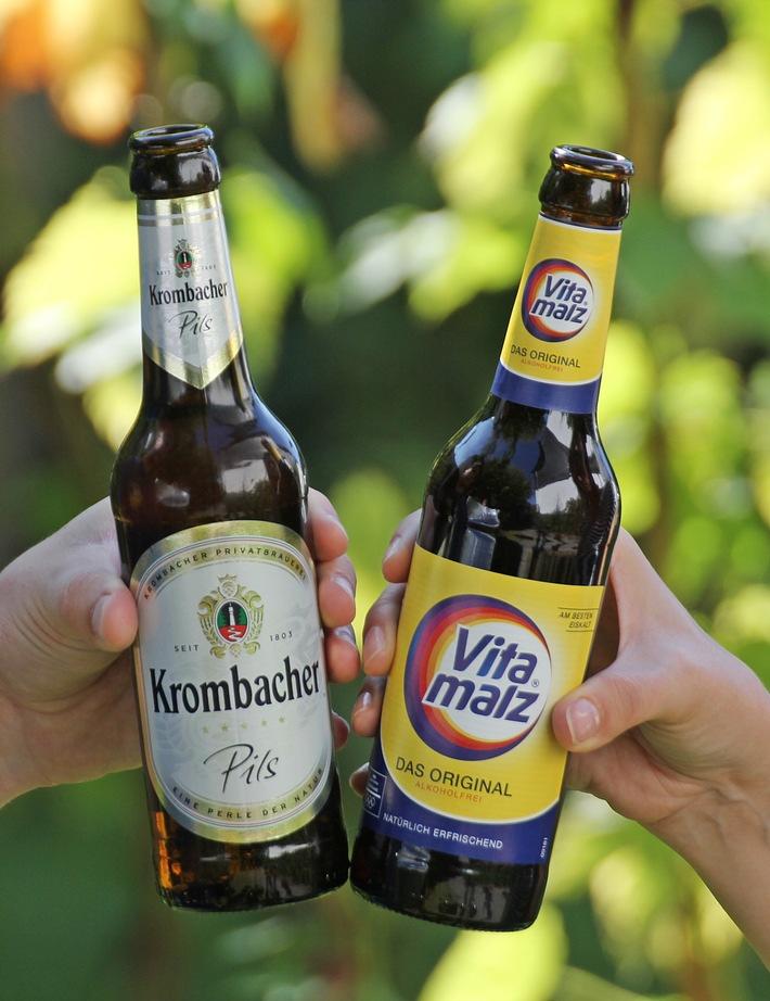 """Krombacher übernimmt Vitamalz. Weiterer Text über ots und www.presseportal.de/nr/42000 / Die Verwendung dieses Bildes ist für redaktionelle Zwecke honorarfrei. Veröffentlichung bitte unter Quellenangabe: """"obs/Krombacher Brauerei GmbH & Co."""""""