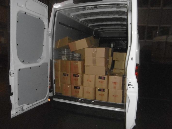POL-AC: Polizei und Zoll stellen knapp drei Tonnen unverzollten Shisha-Tabak sicher