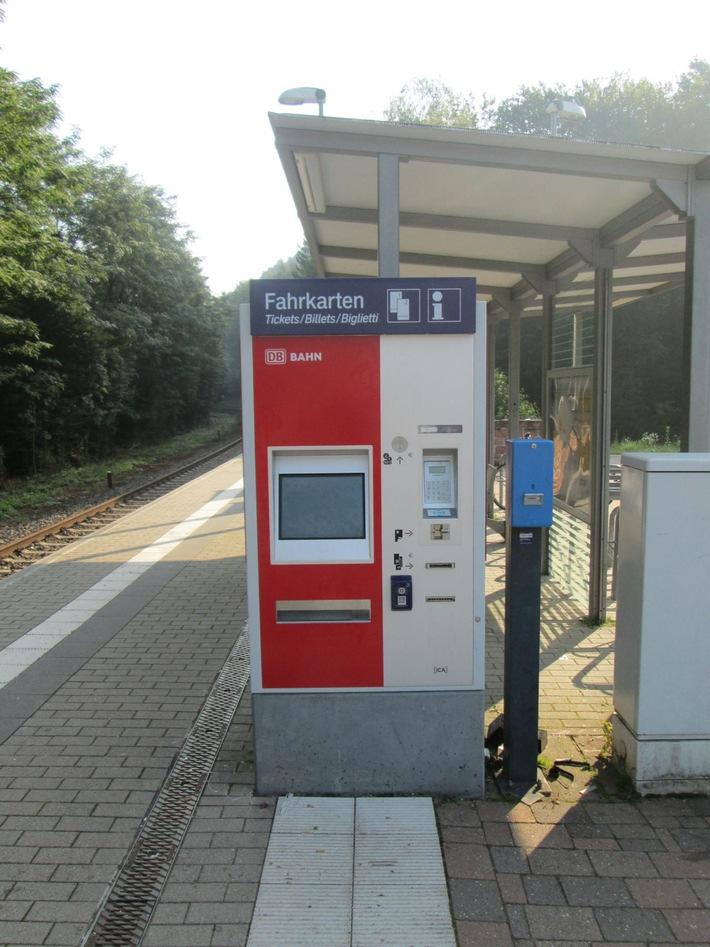 Fahrkartenautomat in Hauenstein Quelle: Bundespolizei