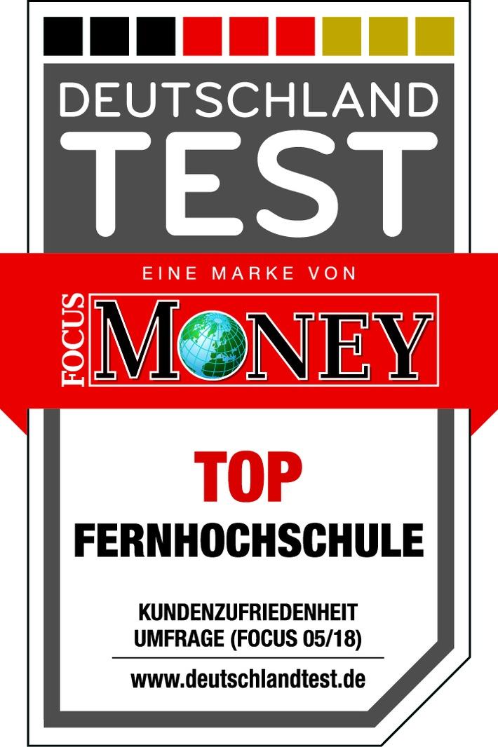 """Der aktuelle Deutschland Test bestätigt: die Kunden finden die Fernhochschule """"top""""."""