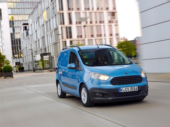 Der neue Ford Transit Courier: Klassenprimus in puncto Verbrauch und Lieferwagen-Eigenschaften