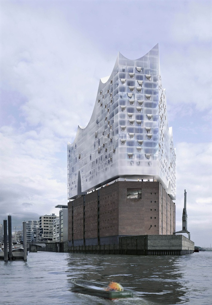 The Elbphilharmonie - a New Landmark for Hamburg / Roofing ceremony for a spectacular concert hall