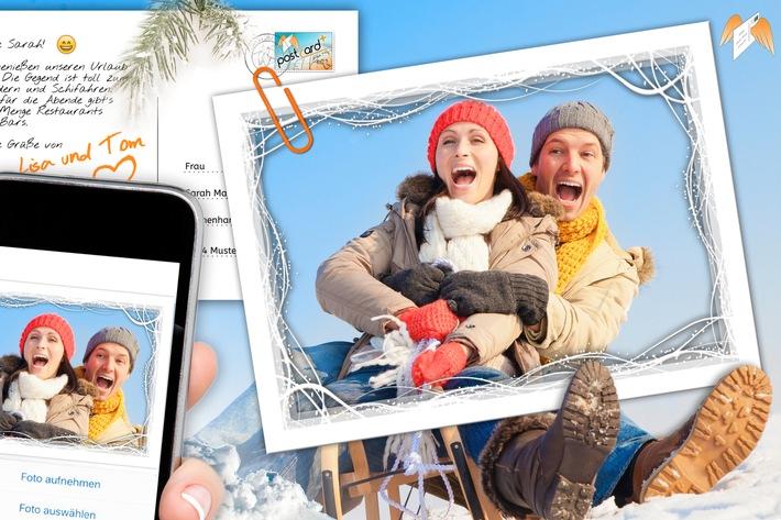 Mit PostcardPlus App Fotos als Postkarten direkt von der Schipiste verschicken.  Digitale Pressemappe: https://www.ots.at/pressemappe/18041/aom  *** TP-ORIGINALTEXT PRESSEAUSSENDUNG UNTER AUSSCHLIESSLICHER INHALTLICHER VERANTWORTUNG DES AUSSENDERS - WWW.TOURISMUSPRESSE.AT ***