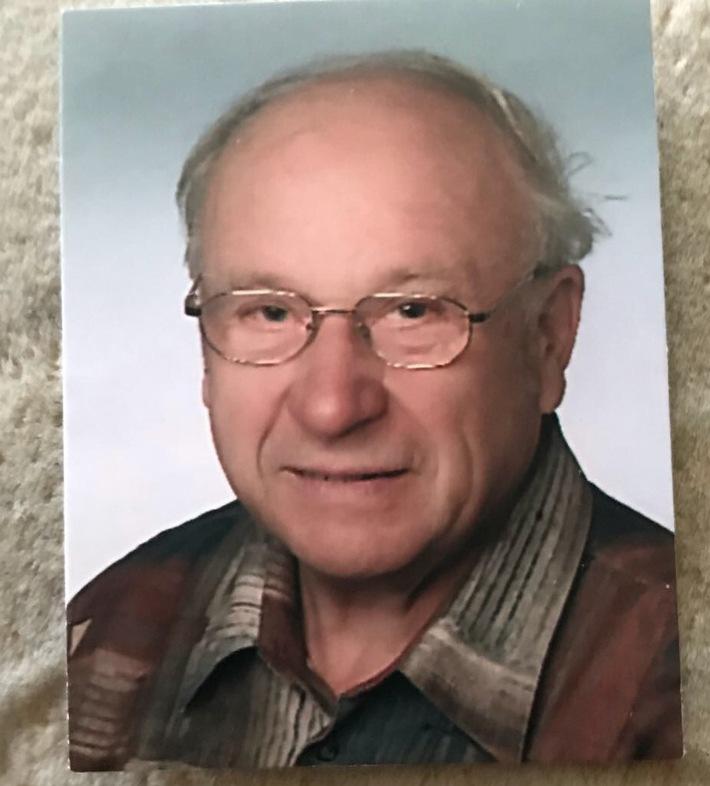 Vermisster 87-Jähriger aus Wismar-Wendorf