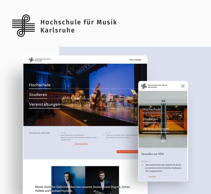 """Information und Image -der neue Online-Auftritt der HFM Karlsruhe. Weiterer Text über ots und www.presseportal.de/nr/143258 / Die Verwendung dieses Bildes ist für redaktionelle Zwecke honorarfrei. Veröffentlichung bitte unter Quellenangabe: """"obs/HFM Karlsruhe"""""""