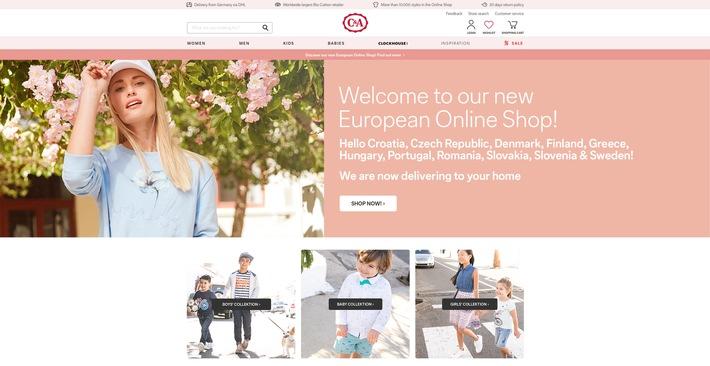 """C&A baut E-Commerce aus: Neuer Online-Shop für elf weitere Länder / Screenshot C&A EU Shop, Verwendung und Nutzung nur in Zusammenhang mit der Berichterstattung über den C&A Online-Shop / Weiterer Text über ots und www.presseportal.de/nr/112929 / Die Verwendung dieses Bildes ist für redaktionelle Zwecke honorarfrei. Veröffentlichung bitte unter Quellenangabe: """"obs/C&A Europe (cunda.de)"""""""