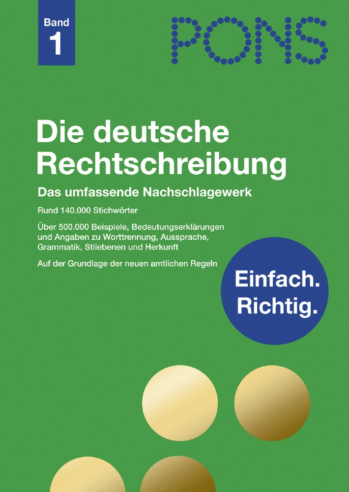 """Rhythmus oder Rhytmus? / """"Die deutsche Rechtschreibung"""" von PONS hilft dabei, richtig zu schreiben - ab sofort im Handel"""