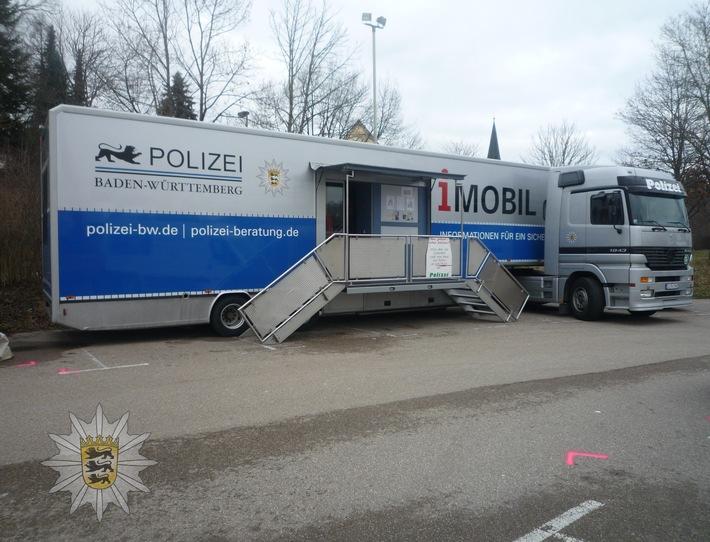 """POL-KA: (KA) Karlsruhe/Weingarten - """"i MOBIL"""" des Landeskriminalamtes im Landkreis Karlsruhe unterwegs und informiert zum Thema Einbruchschutz"""
