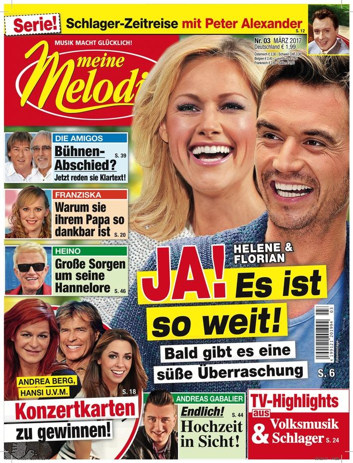 """Cover MEINE MELODIE. Weiterer Text über ots und www.presseportal.de/nr/7235 / Die Verwendung dieses Bildes ist für redaktionelle Zwecke honorarfrei. Veröffentlichung bitte unter Quellenangabe: """"obs/Meine Melodie"""""""