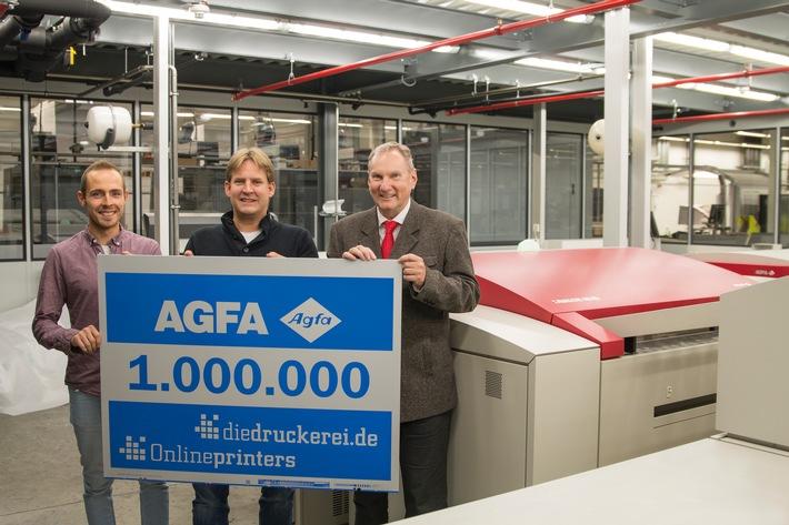 Plattenbelichtungs-Rekord bei Onlineprinters / Agfa-Belichter Avalon N8-80 knackt die Million