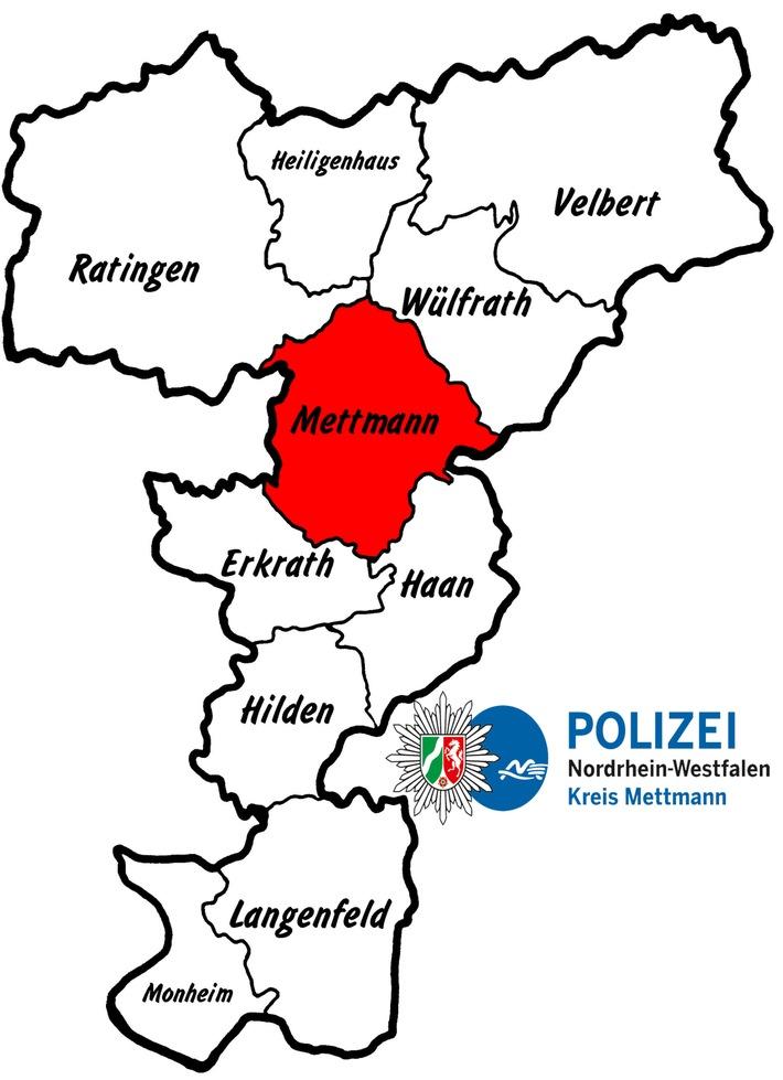 POL-ME: Verkehrsunfall mit drei verletzten Personen und hohem Sachschaden  - Mettmann- 1806080