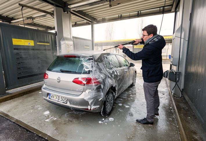 Hoher Druck gegen hartnäckigen Schmutz: Tipps zur Autowäsche nach dem Winter