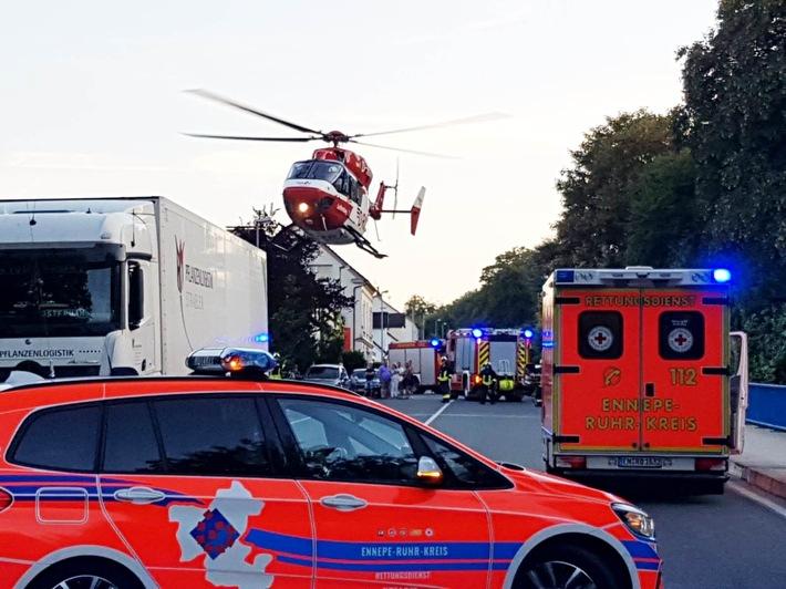 """Hubschrauber """"Christoph Dortmund"""" ist am Flughafen Dortmund stationiert und kann von den Rettungsleitstellen für Rettungs- und Intensivtransporte angefordert werden."""