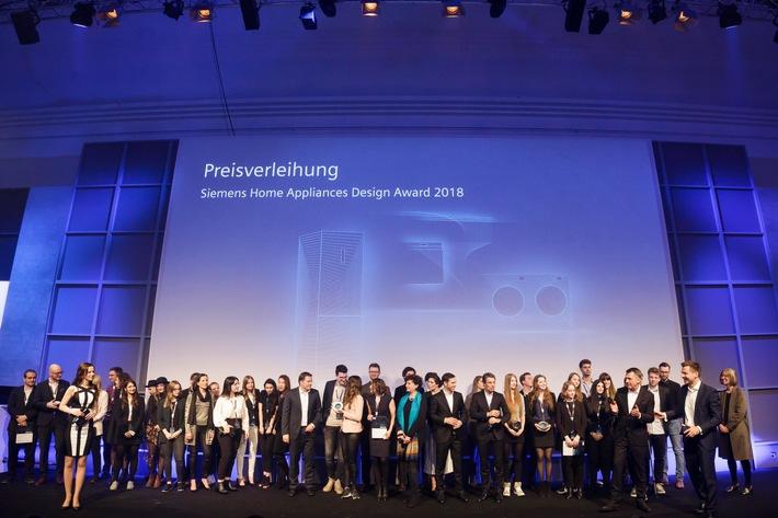 """Siemens Home Appliances Design Award 2018. Weiterer Text über ots und www.presseportal.de/nr/56140 / Die Verwendung dieses Bildes ist für redaktionelle Zwecke honorarfrei. Veröffentlichung bitte unter Quellenangabe: """"obs/Siemens Hausgeräte"""""""