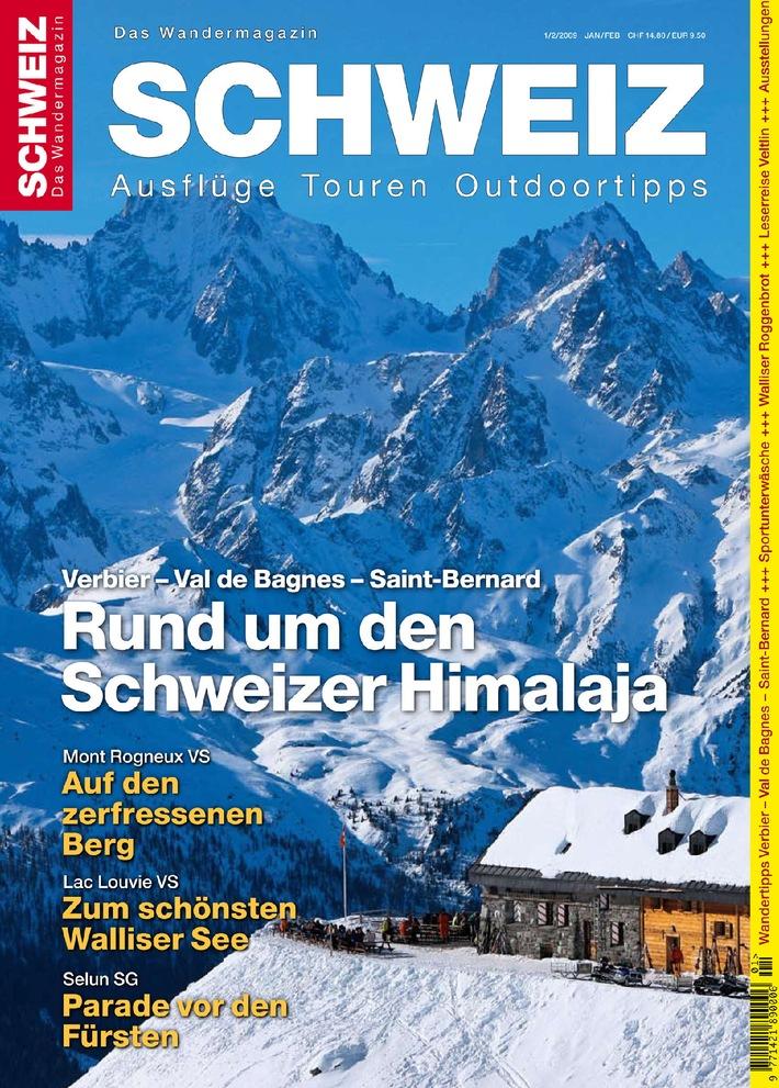 """""""Wandermagazin SCHWEIZ"""" 1 2009: Im Schweizer """"Himalaja"""""""