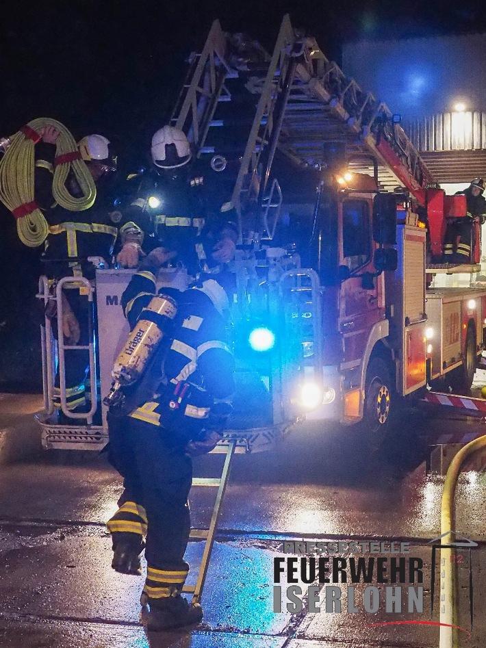 FW-MK: Brand einer Absauganlage