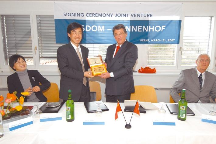 Joint-Venture-Vertrag zwichen Sonnenhof Swiss Health Ltd. und Wisdom Hospital Management Consulting Ltd.