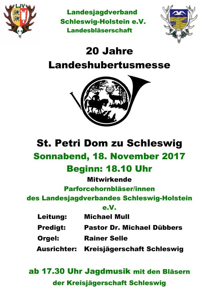 Veranstatungshinweis: Landeshubertusmesse im Dom zu Schleswig