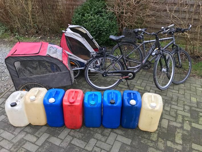 Sichergestellt: Wer erkennt die Fahrräder?