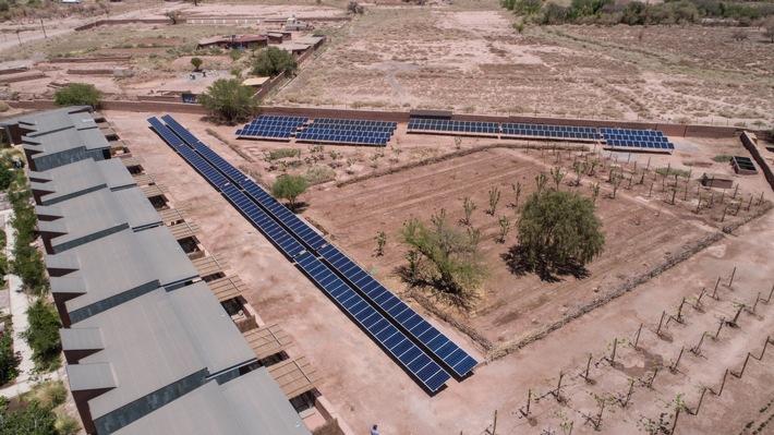 Die Photovoltaikanlage des Tierra Atacama Hotel & Spa. Quelle: Kraftwerk RPS