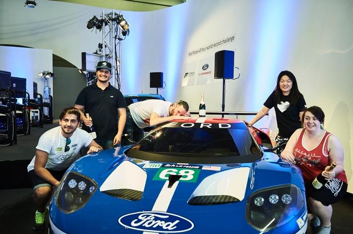 Eintrag ins Guinness-Buch der Rekorde: Forza Motorsport 6-Computerspieler fuhren 48 Stunden mit virtuellem Ford GT