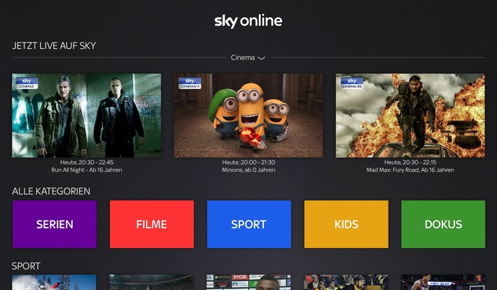 Sky Online ab sofort auf Apple TV streamen
