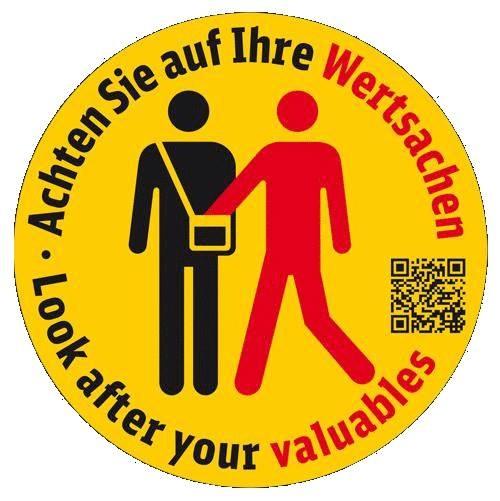 Sybolbild Taschendiebstahlprävention; Quelle: Bundespolizei