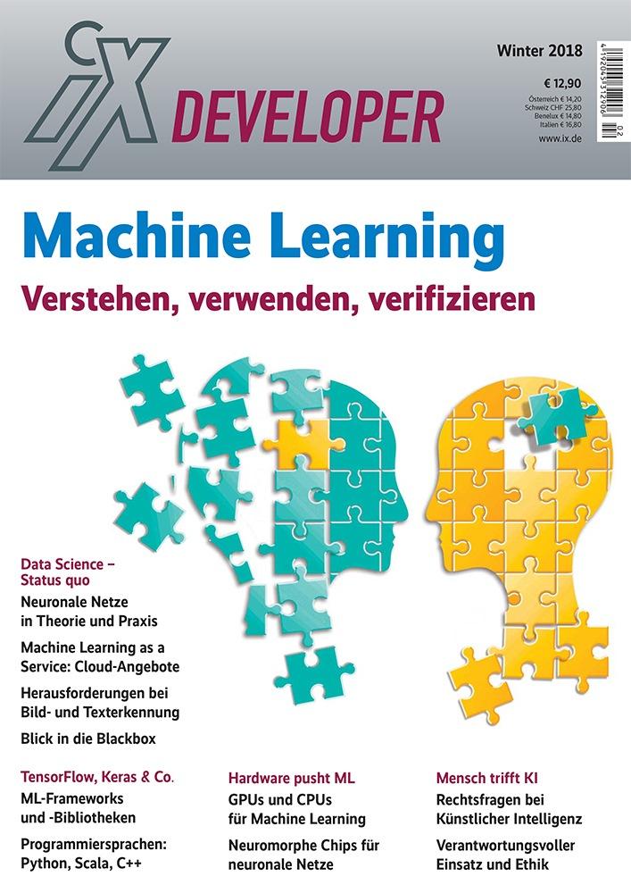 """iX Developer Machine Learning / Weiterer Text über ots und www.presseportal.de/nr/7049 / Die Verwendung dieses Bildes ist für redaktionelle Zwecke honorarfrei. Veröffentlichung bitte unter Quellenangabe: """"obs/iX-Magazin"""""""