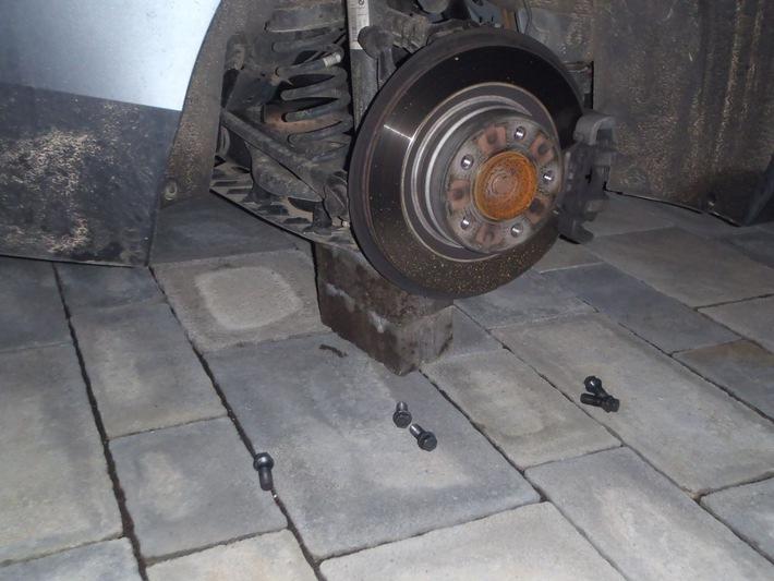 1er BMW, Radsatz entwendet