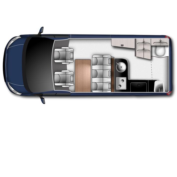 """Große Neuigkeiten kündigen sich an: Auf der CMT 2018 in Stuttgart (13. - 21.01.2018) werden Ford und Westfalia mit dem neuen Nugget Plus erstmals den beliebten Campingbus-Klassiker in einer Langversion präsentieren. Basis der neuen Variante ist der Ford Transit Custom Kombi 340 L2, der mit 367 mm zusätzlichem Radstand mehr Platz für zusätzliche Ausstattung bietet. Ein neu gestaltetes Hochdach rundet den optischen Auftritt harmonisch ab. Weiterer Text über ots und www.presseportal.de/nr/6955 / Die Verwendung dieses Bildes ist für redaktionelle Zwecke honorarfrei. Veröffentlichung bitte unter Quellenangabe: """"obs/Ford-Werke GmbH/Ford/Westfalia"""""""