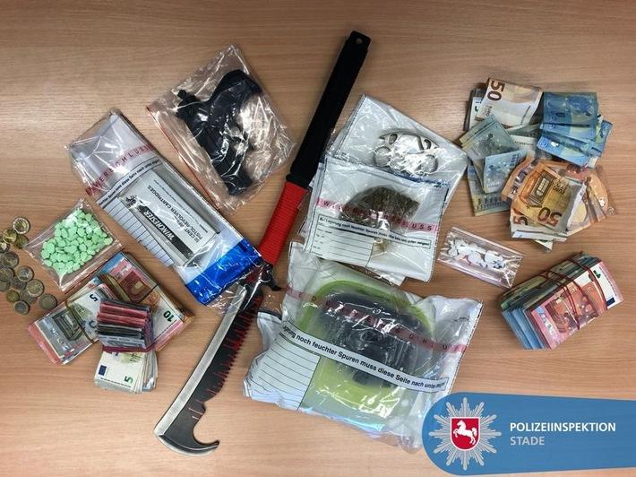 POL-STD: Polizei durchsucht 8 Objekte in Buxtehude - Drogen und Bargeld beschlagnahmt - 2 Tatverdächtige in U-Haft