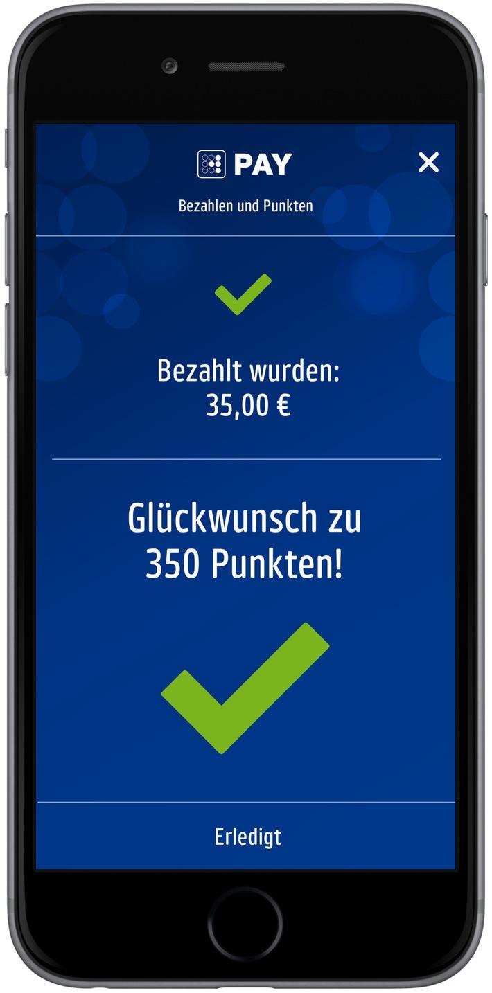 """Die neuen PAYBACK App mit Payment Funktion. Weiterer Text über ots und www.presseportal.de/nr/50659 / Die Verwendung dieses Bildes ist für redaktionelle Zwecke honorarfrei. Veröffentlichung bitte unter Quellenangabe: """"obs/dm-drogerie markt/PAYBACK"""""""