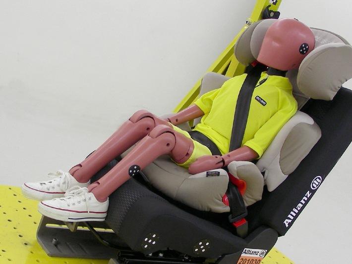 Allianz Suisse: ancora troppi rischi per i bambini in auto