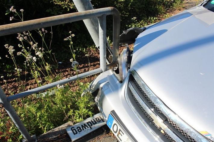 Beschädigtes Fahrzeug