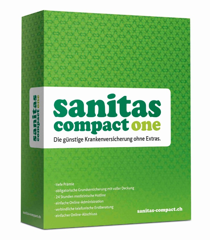 """Visual Sanitas Compact One / Texte complémentaire par ots et sur www.presseportal.ch.  L'utilisation de cette image est pour des buts redactionnels gratuite. Reproduction sous indication de source: """"obs/Sanitas Assurances"""""""