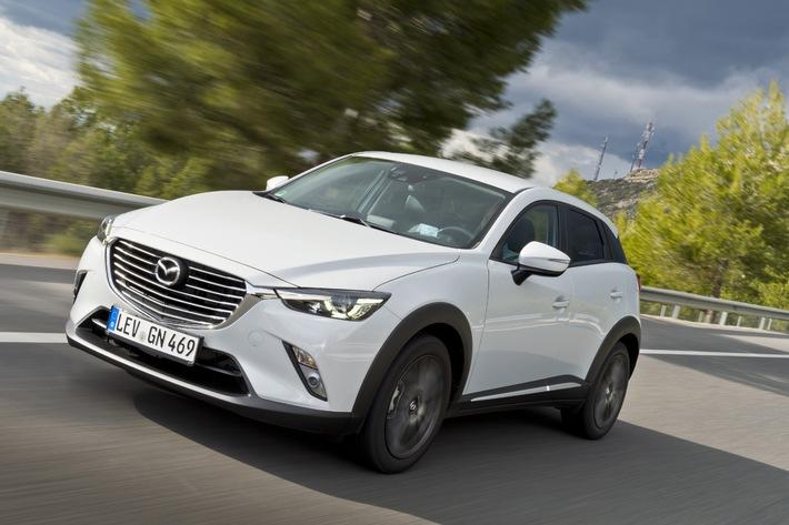 Mazda CX-3 zu Preisen ab 17.990 Euro bestellbar