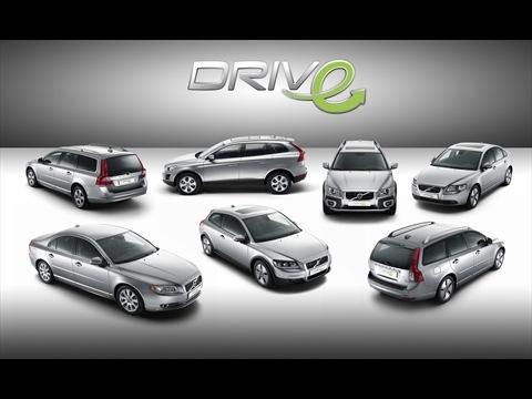 Volvo DRIVe range, Volvo Models C30 DRIVe, S40 DRIVe, V50 DRIVe, S80 DRIVe, V70 DRIVe and XC60 DRIVe with DRIVe Logo / ...