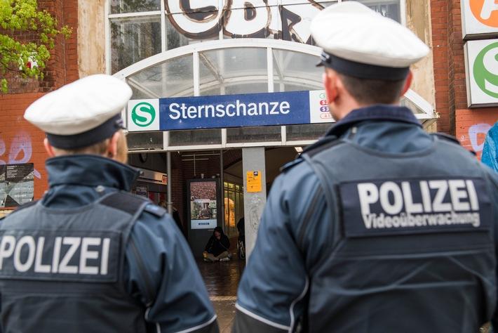 Eine Streife der Bundespolizei am S-Bahnhaltepunkt Sternschanze- Symbolfoto: Bundespolizei-