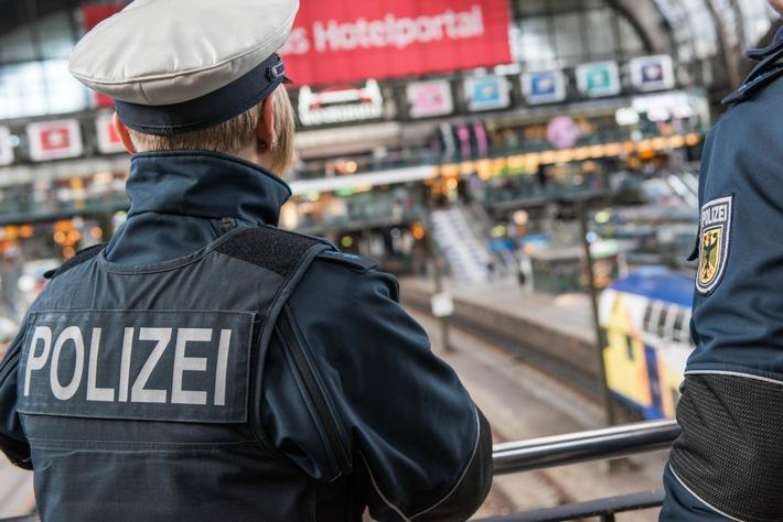 Eine Streife der Bundespolizei im Hamburger Hauptbahnhof- Symbolfoto: Bundespolizei