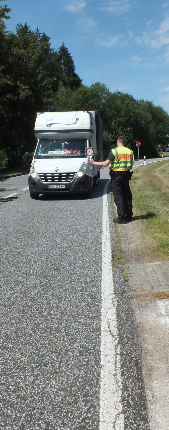 Grenüberwachungsmaßnahmen an der belgischen Grenze; durchgeführt durch die Bundespolizei Prüm und der Mobilen Kontroll- und Überwachungseinheit der Bundespolizeidirektion Koblenz; Foto: Bundespolizei