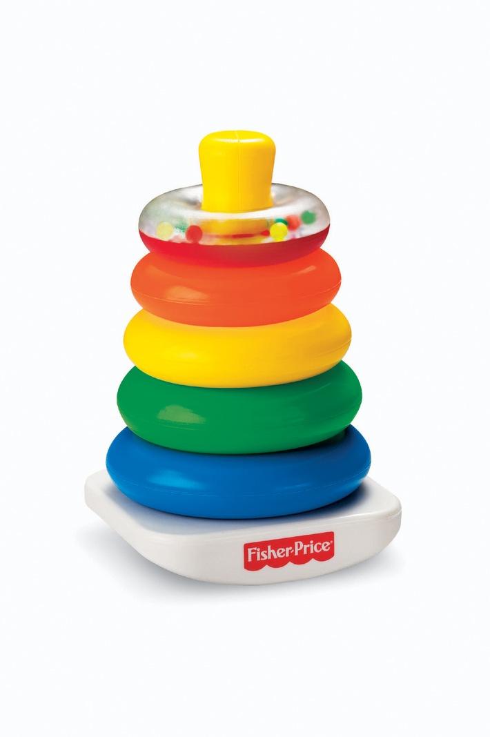 """Fisher-Price Farbringpyramide - Das Fisher-Price Testprogramm zeigt, was Eltern rund um den Spielzeugkauf beschäftigt Die Verwendung dieses Bildes ist für redaktionelle Zwecke honorarfrei. Veröffentlichung bitte unter Quellenangabe: """"obs/Mattel GmbH"""""""