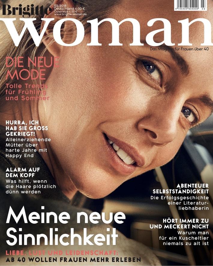 """Cover BRIGITTE WOMAN 03/2018. Weiterer Text über ots und www.presseportal.de/nr/63183 / Die Verwendung dieses Bildes ist für redaktionelle Zwecke honorarfrei. Veröffentlichung bitte unter Quellenangabe: """"obs/Gruner+Jahr, Brigitte Woman"""""""