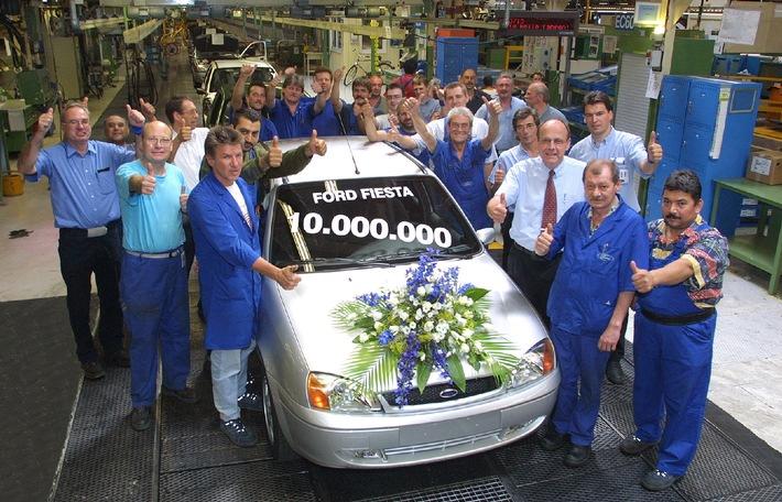 10 Millionen Ford Fiesta in Europa produziert