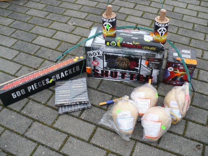 2,5 kg beschlagnahmte Pyrotechnik aus Polen