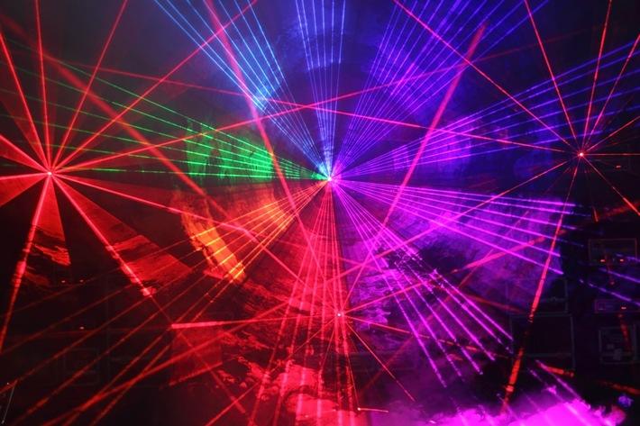 Pressefoto Lasershow, Copyright: Powerliights Augsburg
