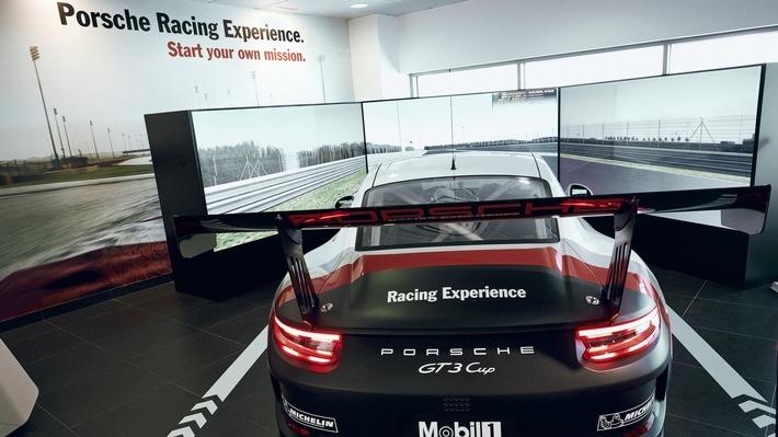 Porsche als Titelsponsor auf der ADAC SimRacing Expo