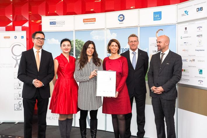 Santander Consumer Bank mit Corporate Health Award ausgezeichnet