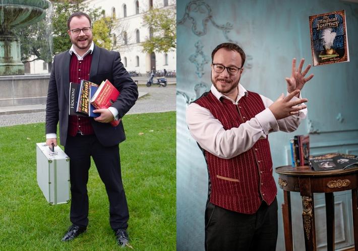 """""""Der Zauber-Professor von der Uni"""". Weiterer Text über ots und www.presseportal.de/nr/138228 / Die Verwendung dieses Bildes ist für redaktionelle Zwecke honorarfrei. Veröffentlichung bitte unter Quellenangabe: """"obs/Zauberkunst"""""""