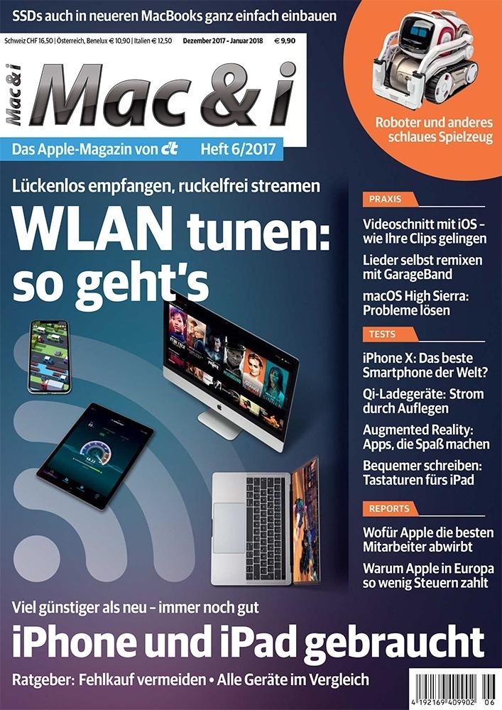 """Mac & i 6/17 Weiterer Text über ots und www.presseportal.de/nr/7833 / Die Verwendung dieses Bildes ist für redaktionelle Zwecke honorarfrei. Veröffentlichung bitte unter Quellenangabe: """"obs/c't/Mac & i 6/17"""""""